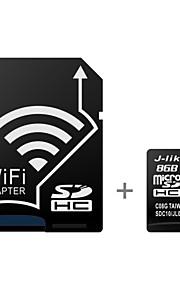 cartão de memória de 10 UHS-1 microsdhc 8gb class wireless j-like com adaptador SD