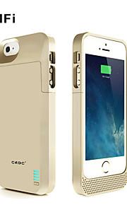 CRDC ® mfi 3000mAh iphone5s Batteriekasten externe Wechsel Backup-Power-Ladegerät Tasche für iphone5 / 5s (schwarz / whitegolden)