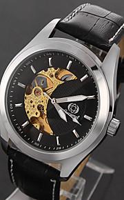 herreur fritid forretning månen form robot high-grade læder ure