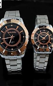 lazer moda à prova de água relógio de pulso de quartzo do casal (cores sortidas)