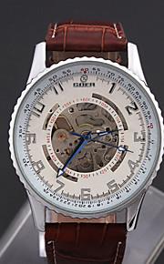 herreur høj kvalitet, stor dial hule automatiske mekaniske læder ur