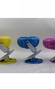 Novelty USB Mini Fan Charging Clip Air Cooler (Assorted Color)