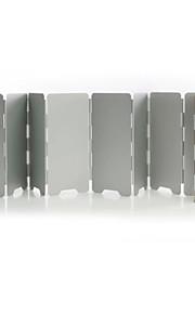 Portable Folding Aluminum Alloy Wind Deflector(Random Color)