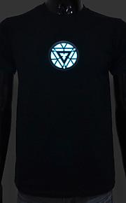 genopladeligt batteri inkluderet lyser førte el t-shirt iron man 3 justerbare lyd aktiveret og flere flash-indstillinger
