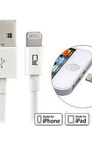 MFI usb 2.0 til lyn eple 8pin synkroniserings data ladekabel for iphone 6& plus& 5s& ipad mini& air 100cm