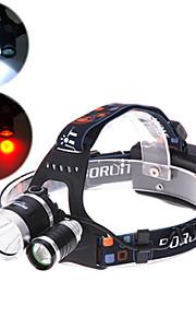 4 Mode 4000 Lumens  Headlamp 18650 Waterproof Bezel LED Cree XM-L T6