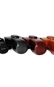 dengpin pu læder kamera cover taske til canon 760d med 18-55 18-135 18-200 linse (assorterede farver)
