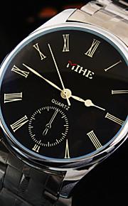 мужская роскошный бизнес-тур Рим набора номера ремень из нержавеющей стали модной жизни водонепроницаемый кварцевые часы