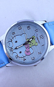 Olá gatinho relógio bonito dos desenhos animados do miúdo