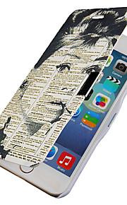 tidningar flicka mönster magnetisk flip hela kroppen fallet med hål för iphone 6 plus
