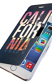 färg ord mönster magnetisk flip hela kroppen fallet med hål för iphone 6 plus