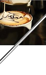 café inoxidável agulha de crochê vara esculpida flores pintadas agulha café extravagante esculpido (1 pcs)