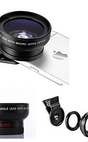 Универсальный профессиональный HD объектив камеры 0.45x супер широкоугольный объектив + макро 12.5x Лен для Samsung и мобильных телефонов