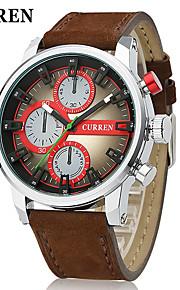 estilo de corrida moda masculina curren® relógio de quartzo japonês tira de couro projeto militar