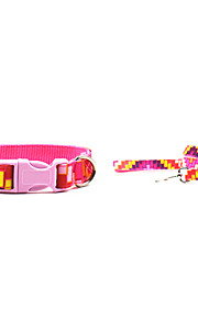 Canvas-The Pink Brick Style Pet Collar and Leash Suit (Assorted Sizes)