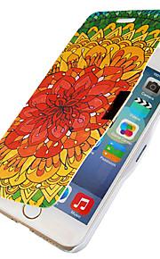 retro blommönster magnetisk flip hela kroppen fallet med hål för iphone 6 plus
