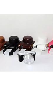 dengpin pu læder kamerataske taske dække med skulderrem til Nikon J5 med 10-30mm linse (assorterede farver)