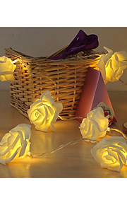 20-ledede 2m rose form farge Nattlys lampe streng 2a batteri christmas bryllup dekorasjon