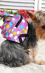 FUN OF PETS® Dots Pattern Travel Backpack with Leash for Pets Dogs (Assorted Sizes and Colors)