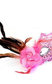 פרחי נוצת צד עור של הנשים מפוארות צד השמלה להסוות