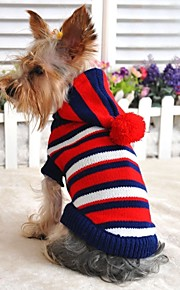 FUN OF PETS® Paddington Style Stripe Design Hoodie Sweater for Pets Dogs (Assorted Sizes and Colours)