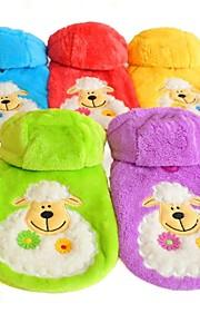 레드/그린/블루/옐로우/퍼플 - 웨딩/코스프레 - 폴라 양털 - 코트/후드 - 개/고양이