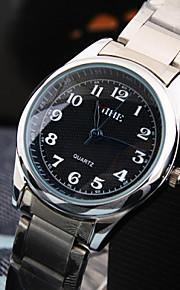 женщин досуг круглый циферблат шт движение из нержавеющей стали ремешок моды водонепроницаемый кварцевые часы