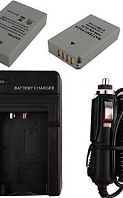 el24 x2 850mAh kamera batteri + eu stik + billader til Nikon 1 J5