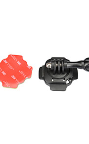KingMa Mount for Helmet, 360 Degrees Rotation, with Lock, with 3M Sticker. Suitable for GoPro Hero 3+/3/2/1