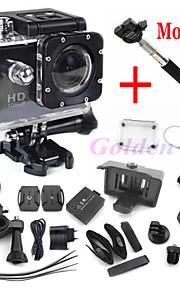 мини-стиль видеокамер полный HD DVR sj4000 видео спорт профессионалом камеры Экстремальный спорт шлем действий камеры + монопод