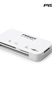 Pisen  USB 3.0 3-in-1 Card Reader for CF, SD and TF Cards with 1 USB 3.0 Data Cable White