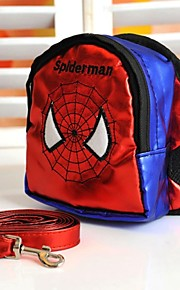 FUN OF PETS® Hero Style Spiderman Pattern Travel Backpack with Leash for Pets Dogs (Assorted Sizes)