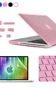 Enkay 4 in 1 crystal harde beschermhoes + screen protector + keyboard film + anti-stof stekkers voor MacBook Pro 15.4 inch
