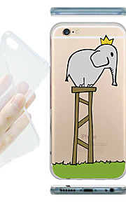 MAYCARI® The King of Elephants Transparent Soft TPU Back Case for iPhone 6