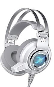 siberia v2 Gaming Headset crema edizione scossa auricolare luminescente blu del computer subwoofer scossa