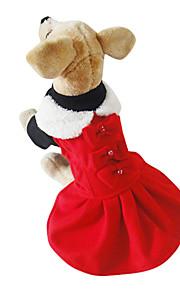 Rojo Algodón/Vellón - Vestidos - Perros -
