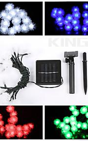konge ro 6.5m 20led solcelle streng lys fancy ball shaple lampe fint bryllup streng lys
