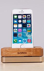 Samdi® Luxury Bamboo Aluminium Metal Stand Mobile Phone Charging Holder Dock Mount for Apple iPhone 6/5S/5C/4S