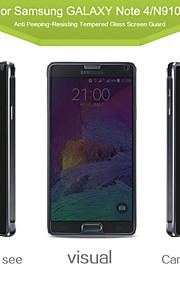 angibabe personvern anti-spion herdet glass skjermbeskytter film til Samsung Galaxy Note 4 5,7 tommer