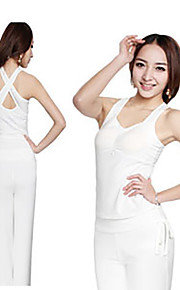 Women's Yoga Suits Sleeveless Breathable / Lightweight Materials White / Black Yoga / Fitness