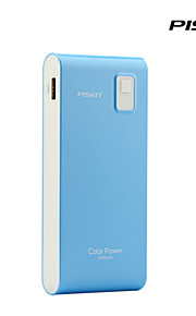 Pisen Color Power 9600mah Portable Ultra-slim Charger External Battery pack Backup Power Bank for Iphone and More