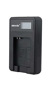 batterioplader med skærm til Samsung SLB - 10 en sort