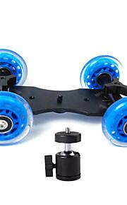 professionelle bordplade dslr kamera dolly skyderen skater hjulet lastbil stabilisator for 5d2 eos videoen + almindelig lille PTZ