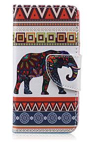 a strisce modello elefante cuoio dell'unità di elaborazione caso completo del corpo per iTouch 5