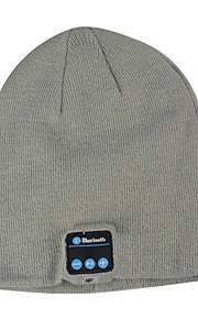 Unisex-Strick für Erwachsene bluetooth Hut Stoff bluetooth Kopfhörer Lautsprecher Hutgröße: 26x20.5x3cm