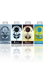 KEEKA EE-19 High Quality 3.5mm Noise-Cancelling Mike In Ear Earphone for iPhone and Other Phones(Assorted Colors)