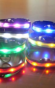 Collari - di Nylon - Rosso / Bianco / Blu / Arancione - Luci a LED
