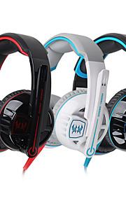 G6000 hifi con cancellazione di gioco microfono cuffie cablate di controllo del volume abbagliamenti auricolari rumore auricolari Surround