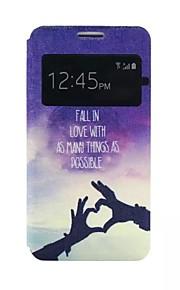 2015 nyeste vindu flip case stativ farget tegning mote pu mobiltelefon skallet menn og kvinner for samsung a3