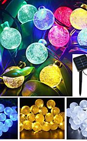 4.8m 20-ledede solenergi boble ball vanntett string lys hage julebord dekorasjon